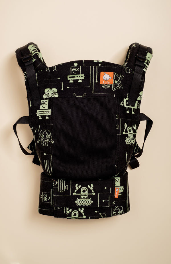 Coast Lolly Wovens Robots Juicy Black - Tula Signature Baby Carrier
