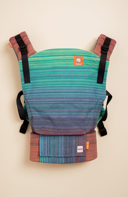 OobieBean&Dolly Phoebe (turquoise weft) - Tula Signature Baby Carrier