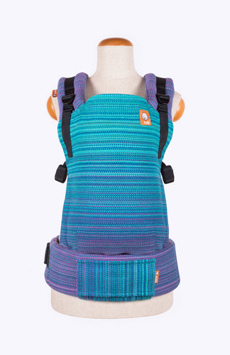 Apple Blossom Twilight Teal - Tula Signature Baby Carrier Wrap Conversion