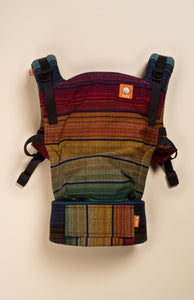 Girasol Asa's Rainbow (cuervo weft) - Tula Signature Baby Carrier Wrap Conversion