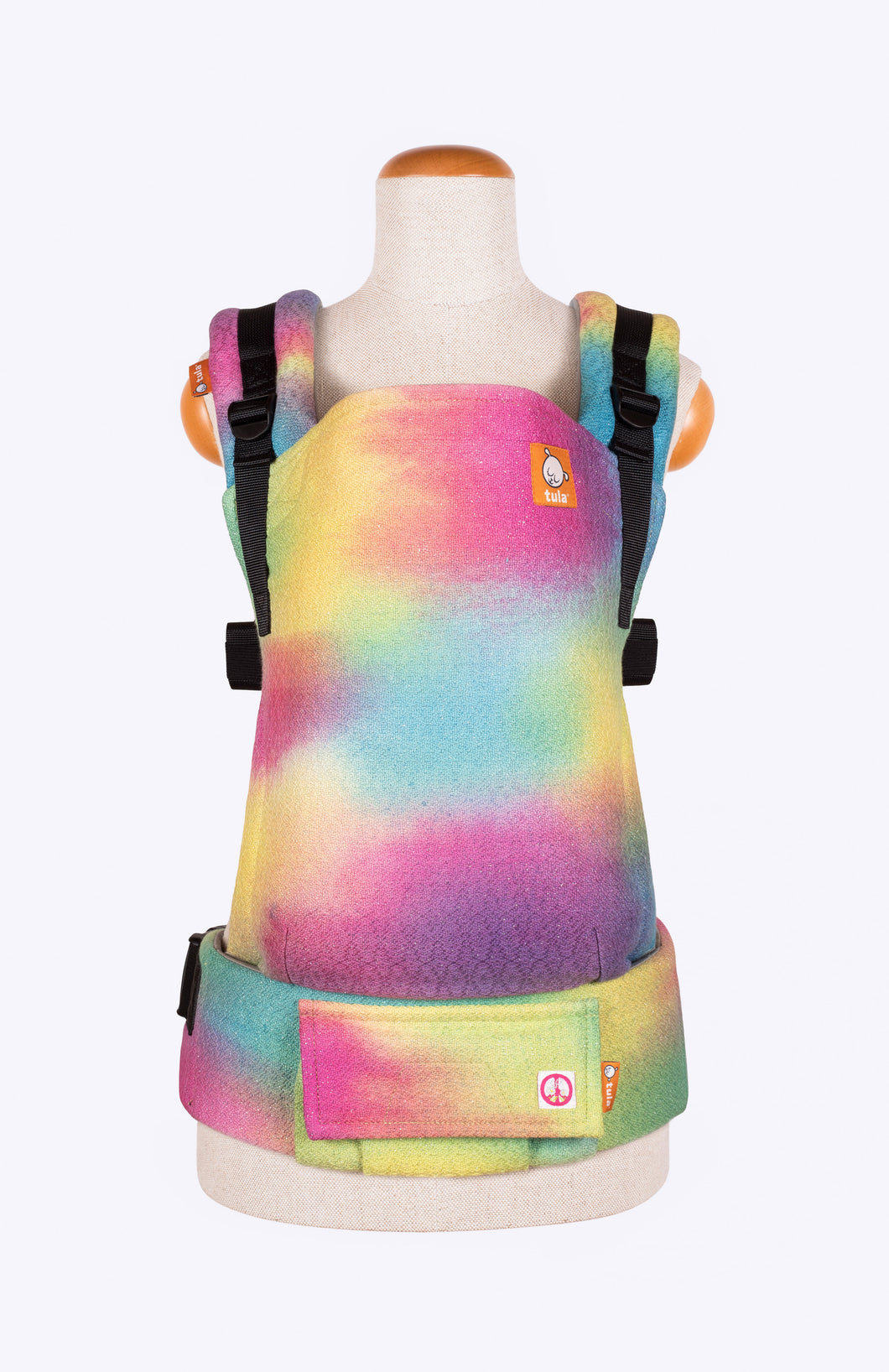 Ljhandwovens Peace Love and Rainbows - Tula Signature Baby Carrier Wrap Conversion