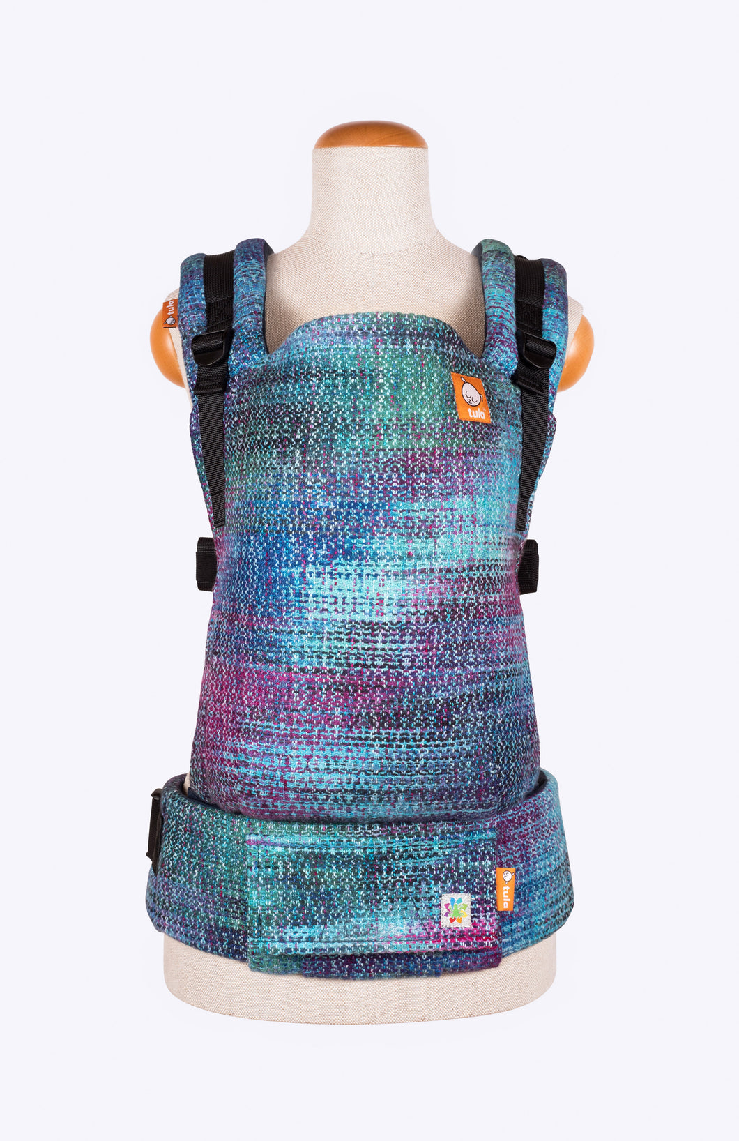 Rainbow Frog Lustrous Dream Jewel Tone Speckled Weft - Tula Signature Baby Carrier Wrap Conversion