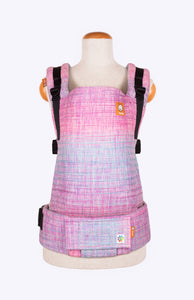 Rainbow Frog Pinkalicious Hot Pink and Orchid Speckles - Tula Signature Baby Carrier