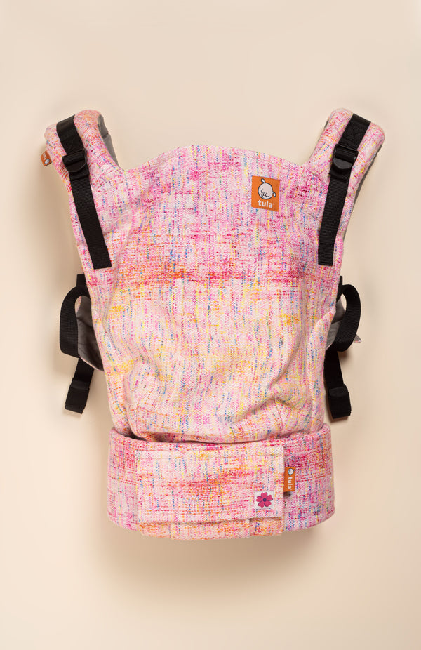 Wild Child Pink Lemonade (hand painted weft) - Tula Signature Baby Carrier