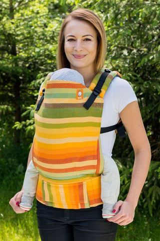 Half Toddler WC Carrier - Alegria Fusion D'Oro Wrap Conversion - Baby Tula