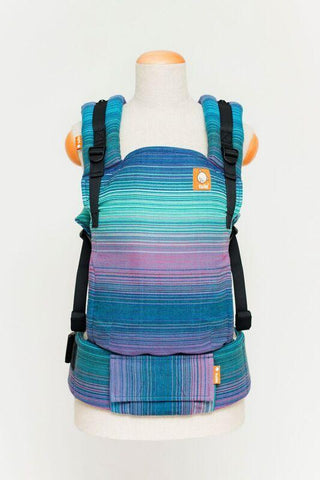 Baby Tula Full Free-to-Grow WC - Girasol Geneva Azul Pacifico Weft Wrap Conversion | Baby Tula