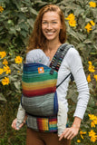 Half Toddler Wrap Conversion Carrier - Maya's Rainbow Cuervo Wrap Conversion - Baby Tula