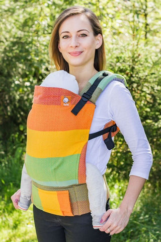 Half Toddler WC Carrier - Gold Rainbow Wrap Conversion - Baby Tula