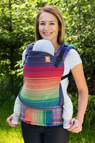 Half Toddler Wrap Conversion Carrier - Promise Purple Weft Wrap Conversion - Baby Tula