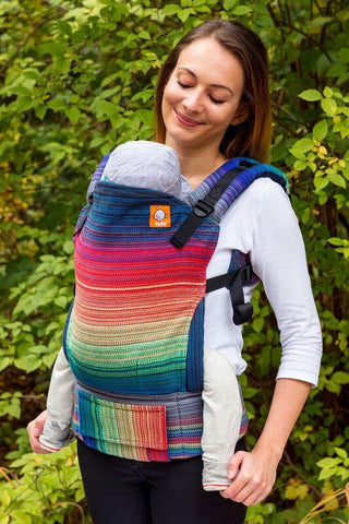 Half Toddler Wrap Conversion Carrier - Heartstring Handwoven Promise True Blue Wrap Conversion | Baby Tula