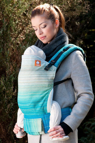 Half Standard WC Carrier - Caribbean Dream Turquoise Wrap Conversion - Baby Tula