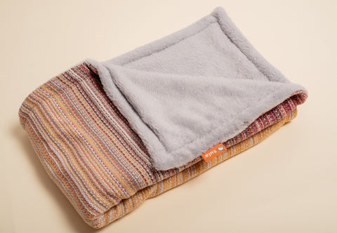 Erizo Wovens Ginger Drop (flax weft) - Tula Signature Handwoven Heirloom Blanket