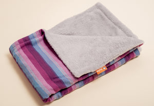 Girasol Light (purpura llamativa weft) - Tula Signature Heirloom Blanket