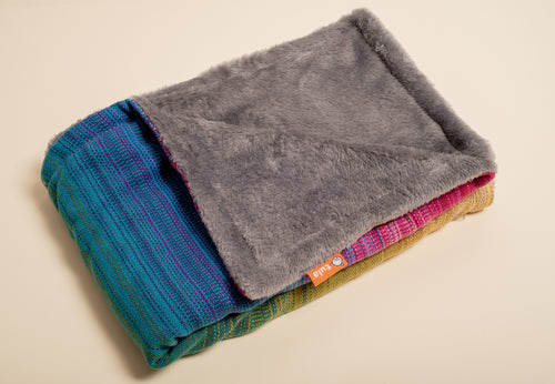 Stewed Rhubarb Redearth (eggplant weft) - Tula Signature Handwoven Heirloom Blanket