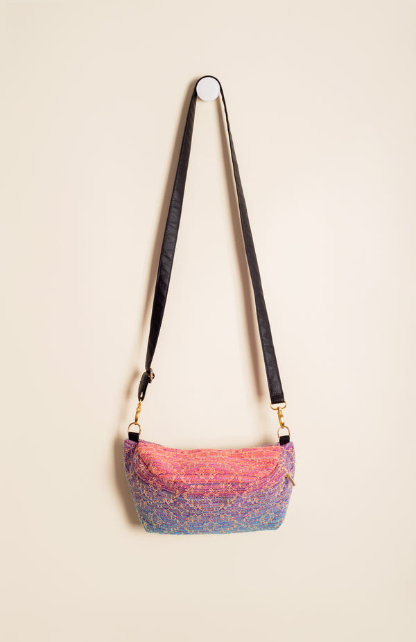 Apple Blossom Wovens + ChiciBeanz Handwoven Sugar Reef (gold weft/kaleidoscope weave) - Tula Signature Hip Pouch