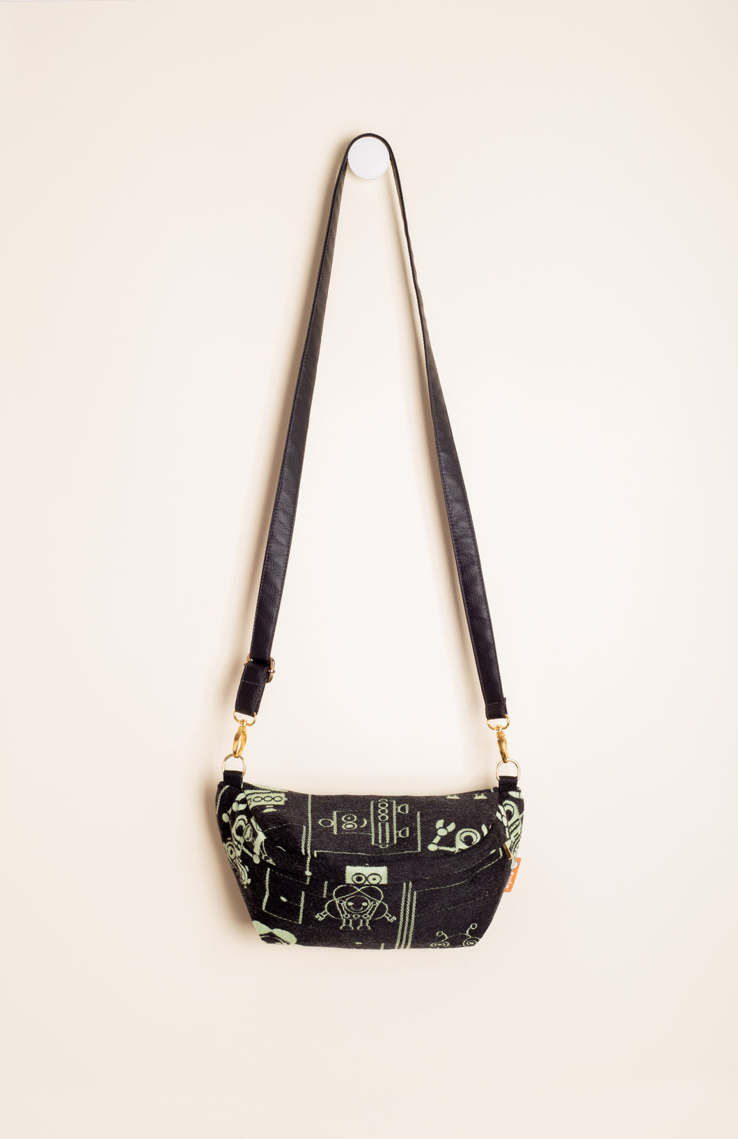 Lolly Wovens Robots Juicy Black - Tula Signature Hip Pouch