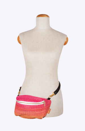 Oolaloom Bimini Strawberry Weft - Tula Wrap Conversion Hip Pouch