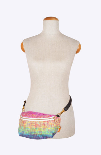 Rainbow Frog Solara Glow Variegated Pinks & Purples Weft - Tula Wrap Conversion Hip Pouch
