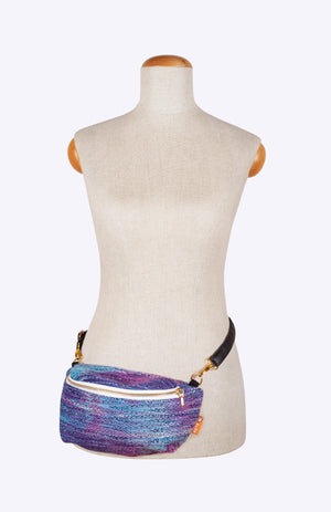 Rainbow Frog Splash Navy Weft - Tula Wrap Conversion Hip Pouch