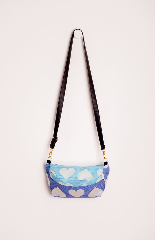 Tula Woven Love Blueberry - Tula Signature Hip Pouch