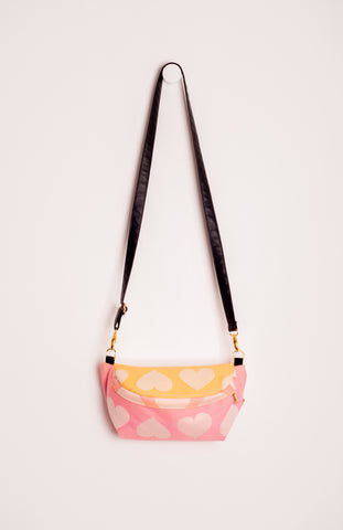 Tula Woven Love Peach Sorbet - Tula Signature Hip Pouch Wrap Conversion Hip Pouch