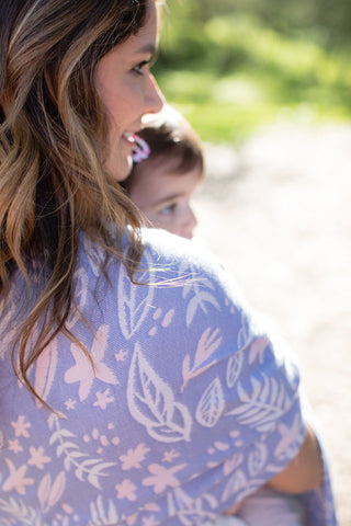 Keene Violet - Cotton Ring Sling