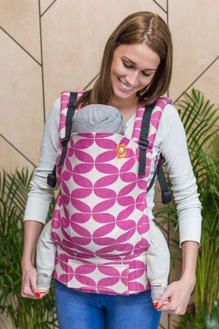 Baby Tula Half Toddler Wrap Conversion Carrier - Kindsknopf Tulpenstern Ela