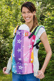 Full Toddler Wrap Conversion Carrier - Rainbow Stars Wrap Conversion - Baby Tula