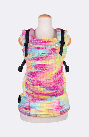 Baby Tula Half Toddler WC - Looming Llama Over the Manebow Rainbow Weft Wrap Conversion | Baby Tula