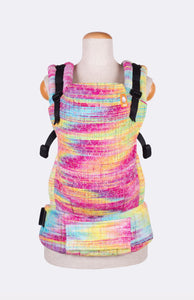 Baby Tula Half Toddler WC - Looming Llama Over the Manebow Rainbow Weft