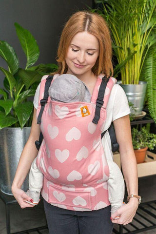 Full Toddler Wrap Conversion Carrier - Love Cotton Candy