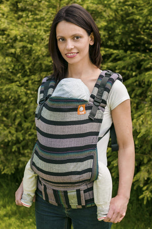 Half Toddler WC Carrier - Isla Herringbone Wrap Conversion - Baby Tula