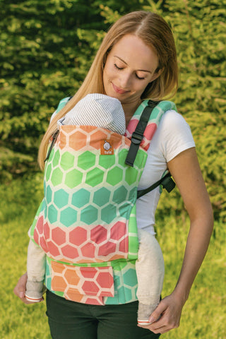 Full Standard WC Carrier - Hexadot Sherbet Wrap Conversion - Baby Tula