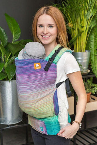 Half Toddler Wrap Conversion Carrier - Louise Turquoise Weft