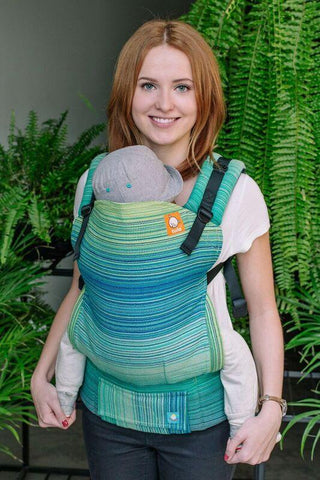 Baby Tula Half Standard Wrap Conversion Carrier - Meeyoo Oliver Turquoise Weft