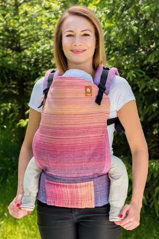 Half Toddler Wrap Conversion Carrier - Rosie Natural Weft