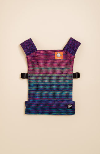 Apple Blossom Wovens + ChiciBeanz Handwoven Dreamer (black weft/twill weave) - Tula Signature Mini Doll Carrier
