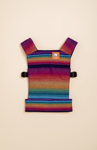 Girasol Rainbow Obsession (azul capitan weft) - Tula Signature Mini Doll Carrier WC Tula Mini