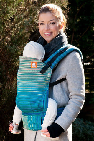 Half Standard WC Carrier - Macaw Blue Weft Wrap Conversion - Baby Tula