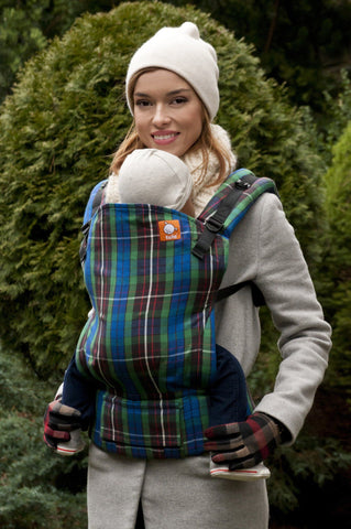 Half Toddler WC Carrier - Fraser Hunting Tartan Wrap Conversion - Baby Tula