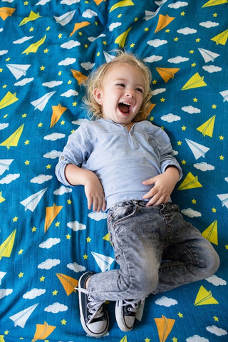 Paper Planes - Tula Baby Blanket
