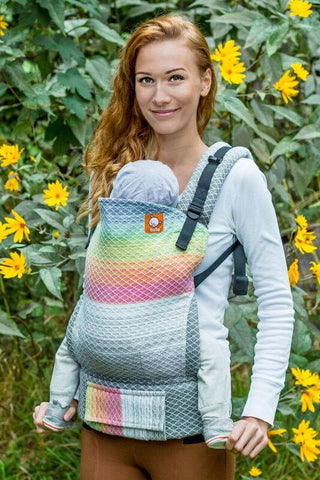 Half Toddler Wrap Conversion Carrier - William Natty Weft Wrap Conversion - Baby Tula