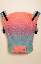 Apple Blossom Wovens x Chicibeanz Handwoven Sugar Reef (gold weft/kaleidoscope weave) - Tula Signature Preschool Carrier