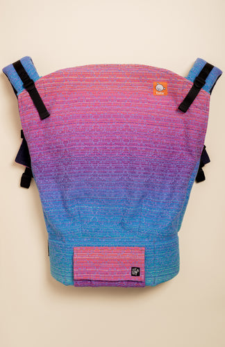 Apple Blossom Wovens x Chicibeanz Handwoven Sugar Reef (periwinkle weft/kaleidoscope weave) - Tula Signature Preschool Carrier
