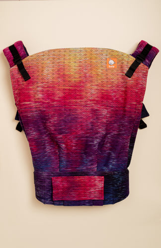 Handwoven Honey Sunset Serenade (black weft) - Tula Signature Preschool Carrier