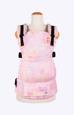 Baby Tula Half Toddler WC - Rainbow Frog Fairy Dust Pink Weft