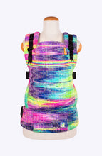 Baby Tula Half Standard WC - Rainbow Frog Glow with the Flow Bright Speckle Dyed Weft