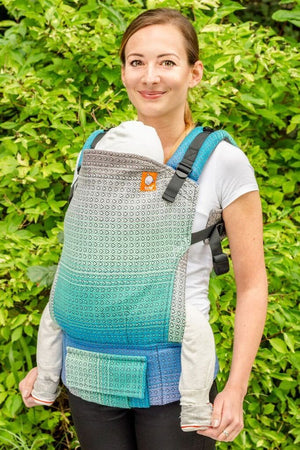 Half Standard Wrap Conversion Carrier - Winterfell Spring Charcoal Weft Wrap Conversion | Baby Tula