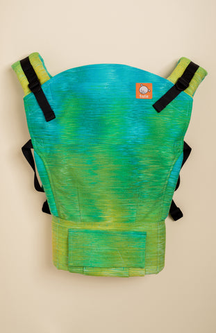 Handwoven Honey Down Came the Rain (jade weft) - Tula Signature Baby Carrier