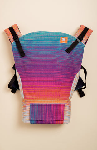 Stewed Rhubarb Wildheart (hot pink weft) - Tula Signature Baby Carrier